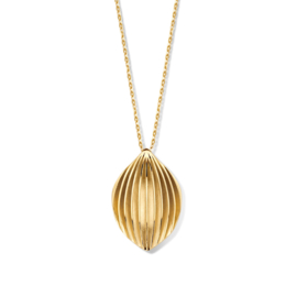 Excellent Jewelry Geelgouden Collier met Geribbelde Hanger