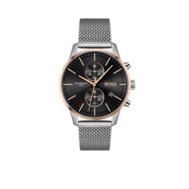 Hugo Boss Horloge Associate Zilverkleurig Horloge met Milanese Band van Boss