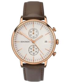 Luxueus Sekonda Heren Horloge met Zilverkleurige Wijzerplaat