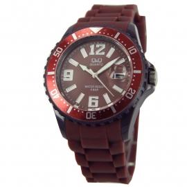 Horloge in de kleur bruin / Q&Q Horloges