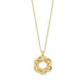Excellent Jewelry Geelgouden Collier met Opengewerkte Fantasie Hanger