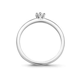 Witgouden Ring Diamant 0,10 ct H SI