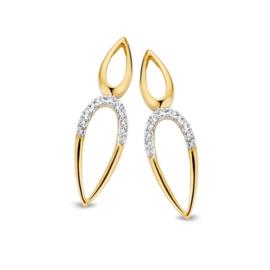Excellent Jewelry Geelgouden Oorstekers met Dubbele Druppelvorm