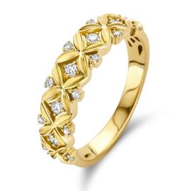 Excellent Jewelry Robuuste Bloemblaadjes Design Ring met Diamanten