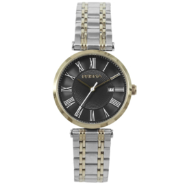 Goudkleurig Dames Horloge met Zilverkleurige Horlogeband