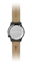 Lacoste Zwart Motion Heren Horloge met Bruine Horlogeband