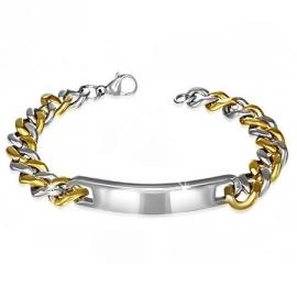 Armband-Goud- en Zilverkleurig - Graveer armband