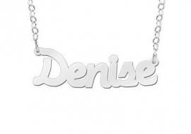 Names4ever Denise Stijl Zilveren Naamketting