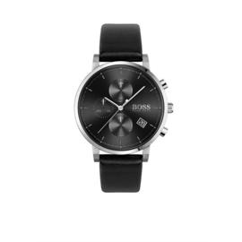 Hugo Boss Horloge Integrity Zilverkleurig Horloge met Zwarte Band van Boss