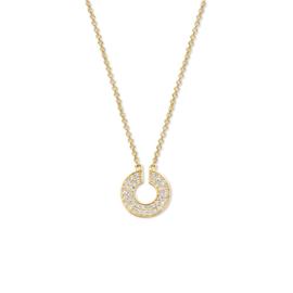 Excellent Jewelry Gouden Collier met Open Briljant Cirkel