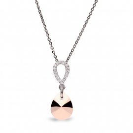 Pear Drop Roségoudkleurige Swarovski Ketting | Sale