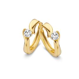 Excellent Jewelry Geelgouden Creolen met Glinsterende Zirkonia