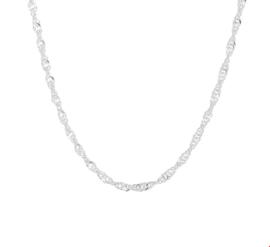 Zilveren Singapore Collier voor Dames