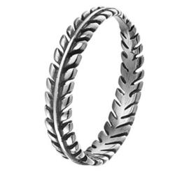 Laurier Krans Ring van Geoxideerd Zilver