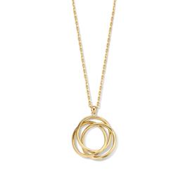 Excellent Jewelry Geelgouden Collier met Drie Cirkels Hanger