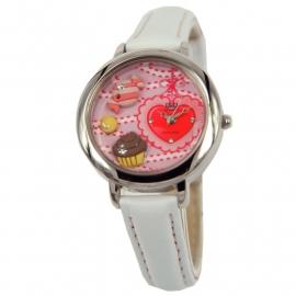 Horloge voor meisjes / Cupcake & Hartjes