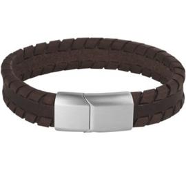 Leren Armband Donkerbruin 12 mm / Lengte 21 cm | Graveren mogelijk!
