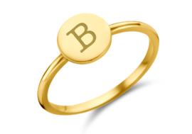 Disc Gouden Ring met Initiaal | Names4ever