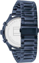 Tommy Hilfiger Heren Horloge met Blauwe Schakelband