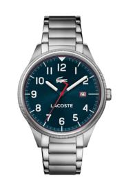 Lacoste Stalen Continental Heren Horloge met Schakelband