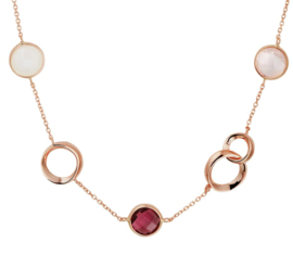 Roségouden Collier met Decoraties en Edelstenen