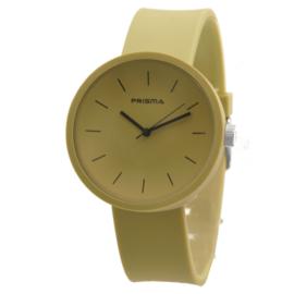 Prisma Beige Unisex Horloge met Beige Band