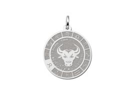 Zilveren Stier Sterrenbeeld Bedel met Naam ZHS086 | Names4ever