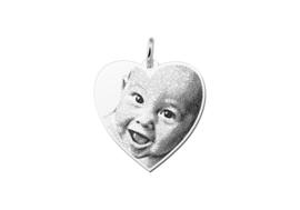 Stevige Hartvormige Fotogravure Hanger van Names4ever