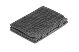 Croco Zwarte Magic Coin Wallet Portemonnee van Essenziale Garzini
