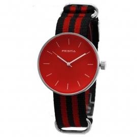 Prisma Horloge Unisex Simpel Rood Nato P.1248.24WG