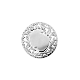 Kleine Zilveren Babyvoetjes Munt van MY iMenso