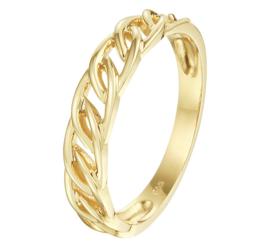 Gouden Ring met Schakelmotief