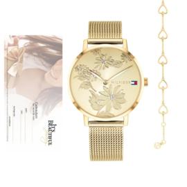 Tommy Hilfiger Pippa Horloge + Hartjes Armband + Cadeaubon t.w.v. € 50,00 | Gift Set