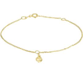 Gouden Anker Armband met Harthangertje