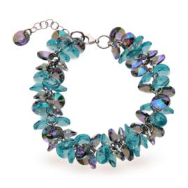 Frou Frou Aquablauwe Swarovski Armband van Spark Jewelry