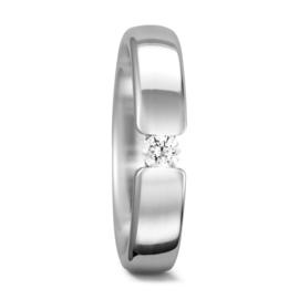 Basic Bolstaande Dames Trouwring met Diamant