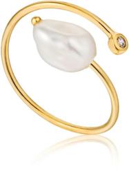 Ania Haie Pearl of Wisdom Goudkleurige Ring voor Dames