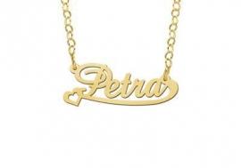 Names4ever Petra Stijl Gouden Naamketting