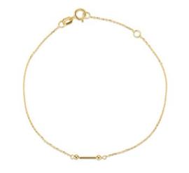 Gouden Dames Armband 0,8 mm 16 – 18 cm
