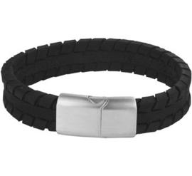 Armband van leer 12 mm 19 cm | Graveer Armband