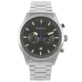 Edelstalen Chronograaf Heren Horloge met Grijze Wijzerplaat