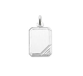 Graveerhanger van Zilver met Diagonale Groeven | Initiaal