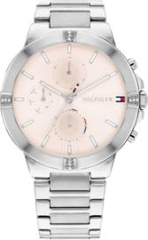 Tommy Hilfiger Zilverkleurig Dames Horloge met Crème Wijzerplaat