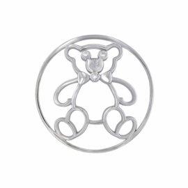 Zilveren Toy Bear 33mm Insignia van MY iMenso