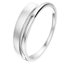 Ring met Rechthoekige Afsplitsing en Rhodium