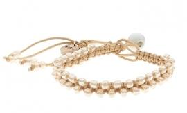 Macramé BIBA Armband 5830-CREAM