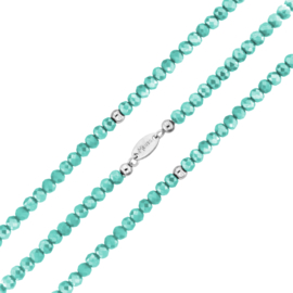 Turquoise Facetgeslepen Kralen Rek Armband van MY iMenso