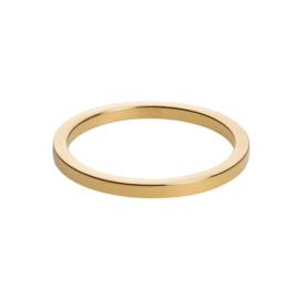 Vlakke Slanke Goudkleurige Ring van M&M