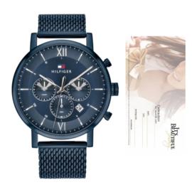 Tommy Hilfiger Blauw Horloge + Cadeaubon t.w.v. € 50,00 | Gift Set