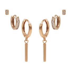 Karma Jewelry – Zesdelige Pretty Perfect Earparty Set - Rosé